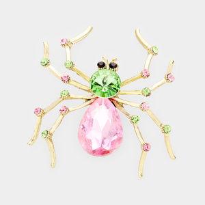 Crystal Spider Pin Brooch